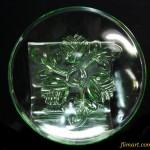 昭和レトロガラスプレート小皿R556