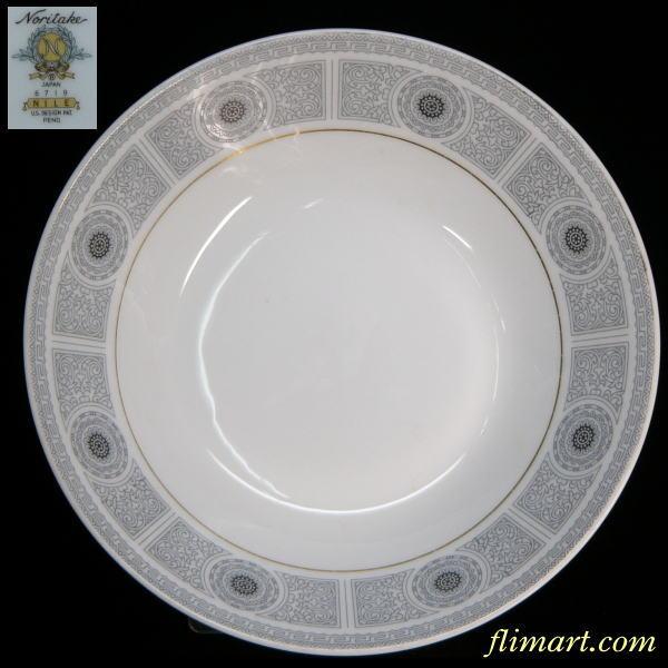 昭和レトロノリタケNILE19cmスープ皿
