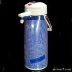 タイガー魔法瓶電動スイッチポットチェック柄ウインザー青2.5Lタイプ