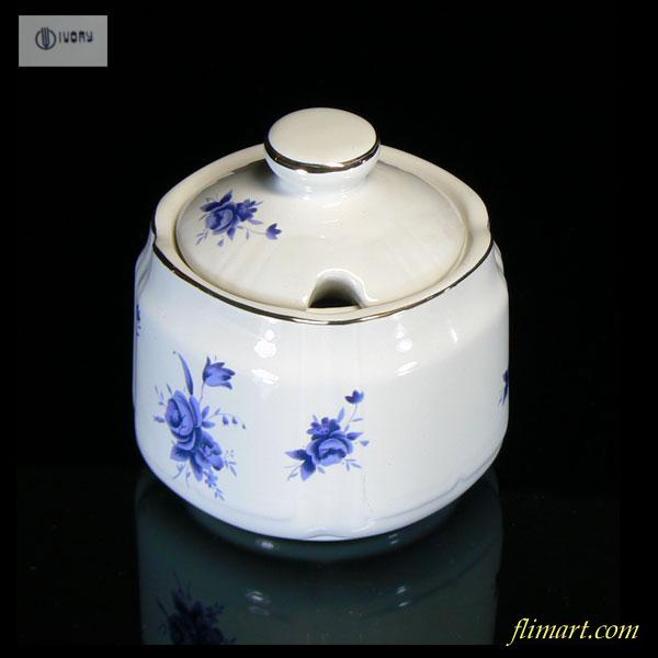昭和レトロシュガーポット花柄R1309