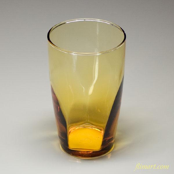 昭和レトロアデリア飴色ガラスコップR720