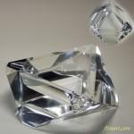 昭和レトロ丸物クリスタルガラス灰皿