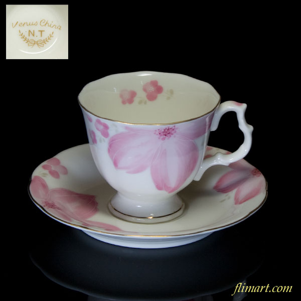 ノリタケNTカップ&ソーサー花柄R1470