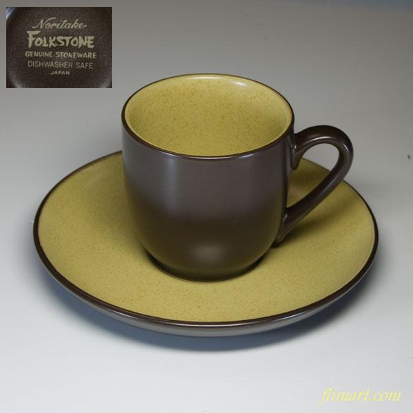 ノリタケストーンウェアFOLK STONEカップ&ソーサーR1590