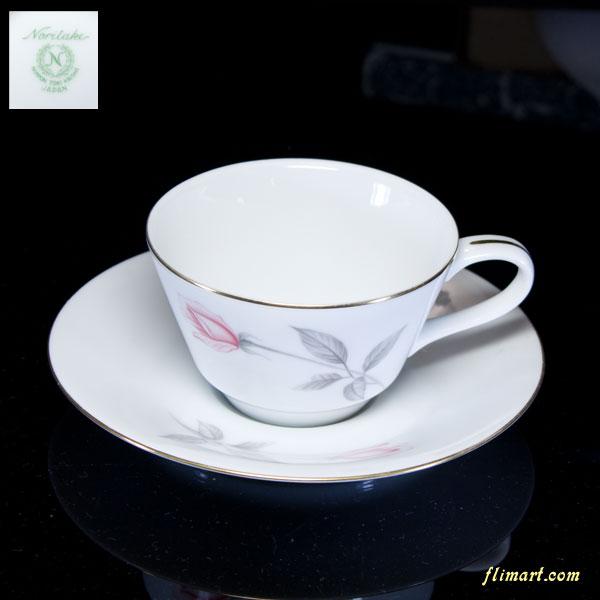 ノリタケカップ&ソーサー花柄バラ柄R1648