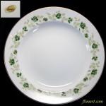 昭和レトロSangoスープ皿23cm緑花柄