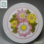 ミカサMIKASA DUPLEXピンク花柄19cmプレート