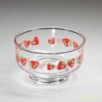 ガラスアイスクリーム鉢苺柄R2441