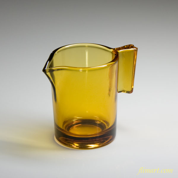 昭和レトロ飴色ガラスクリーマー