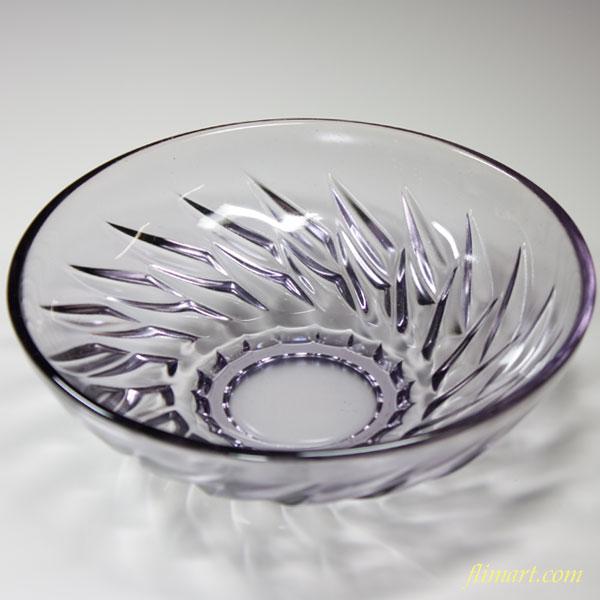 昭和レトロソガガラス紫ガラスボウルR2578