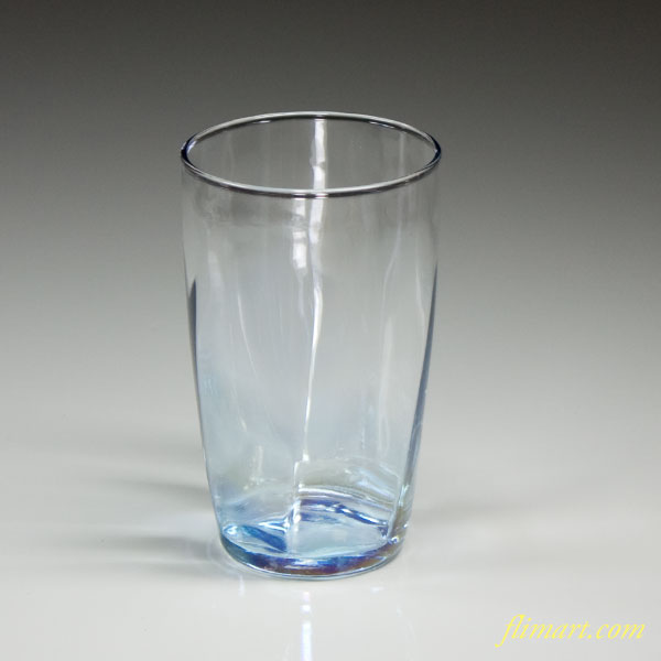 昭和レトロアデリアガラスコップ青R2786