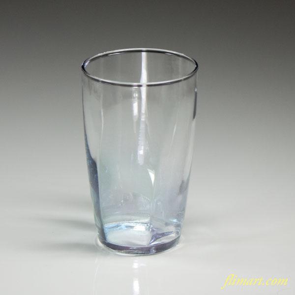 昭和レトロアデリアガラスコップ青R2787