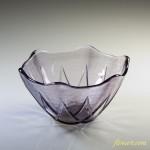 昭和レトロソガグラス小鉢紫R2799
