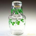 昭和レトロガラス水差し緑R2866