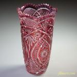 クリスタルダルクブレミオ花瓶赤