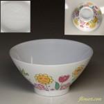 昭和レトロノリタケメラミンウェア花柄茶碗R3218