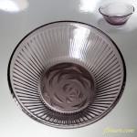 昭和レトロ紫ガラス小鉢R3258