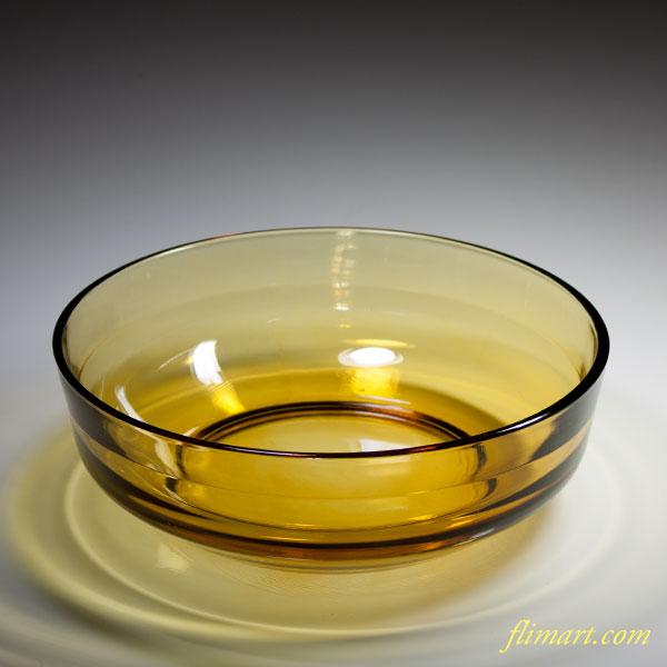 飴色ガラスボウルR3387