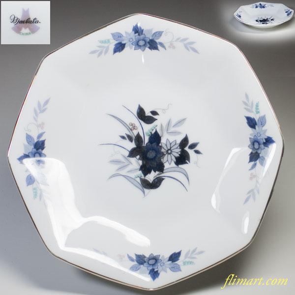 前畑陶器花柄八角皿
