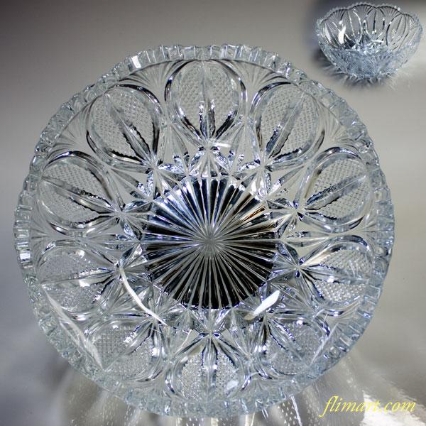昭和レトロクリスタルガラスボウルR3583