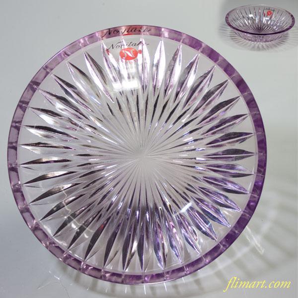 昭和レトロノリタケクリスタル紫グラスボウル小鉢