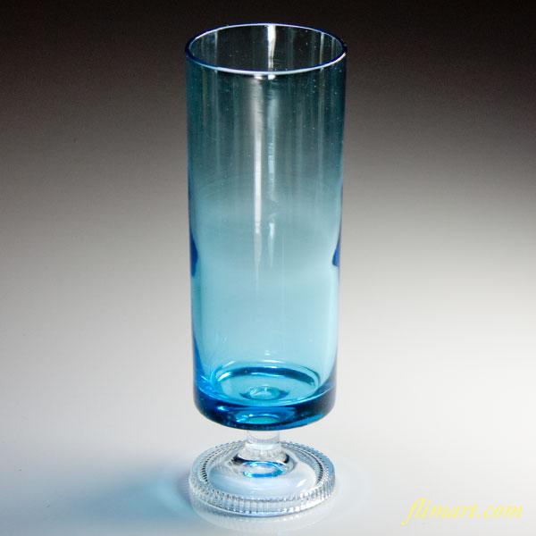 昭和レトロガラスコップステム型青R3562