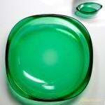 昭和レトロカガミクリスタル小鉢緑
