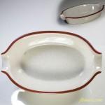 昭和レトロストーンウェアグラタン皿R3680