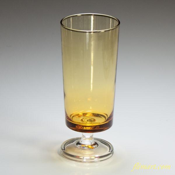 昭和レトロアデリア飴色グラスR3760