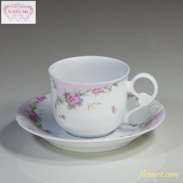 ナルミ花柄カップ&ソーサーR3783