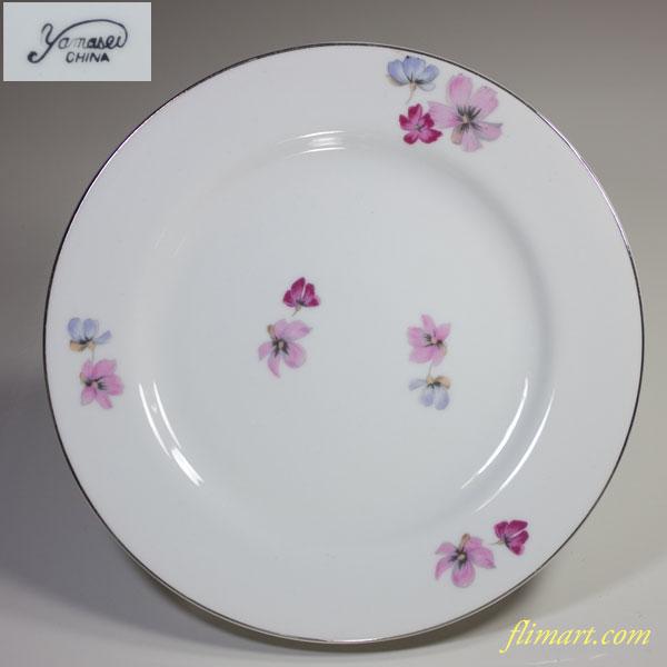 昭和レトロヤマセイ花柄21cmプレート