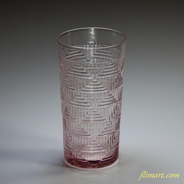 アデリアアデカラーピンクガラスコップ