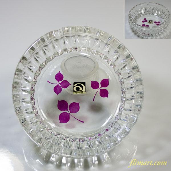 昭和レトロアデリアガラス灰皿