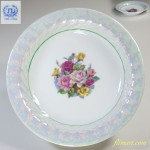 昭和レトロラスター薔薇柄花柄スープ皿