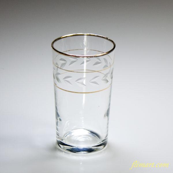昭和レトロアデリアガラスコップR4039