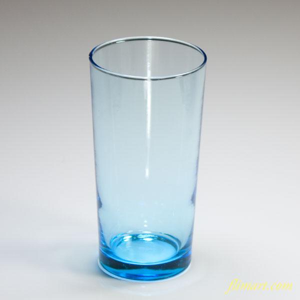 昭和レトロアデリア水色ガラスコップR4077