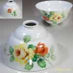 オールドノリタケ日陶電傘ランプシェード花柄