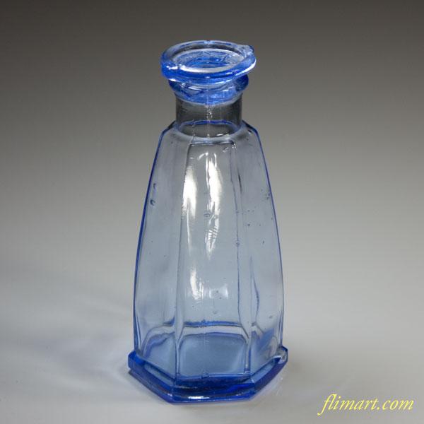昭和レトロカゴメ青ガラス醤油差し