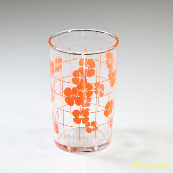 昭和レトロアデリアガラスコップオレンジR4151