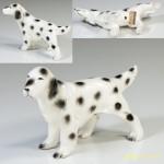 昭和レトロ陶器日本製フィギュアイングリッシュセッター犬の置物