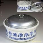 電子レンジ専用陶器製キャセロール蒸鍋