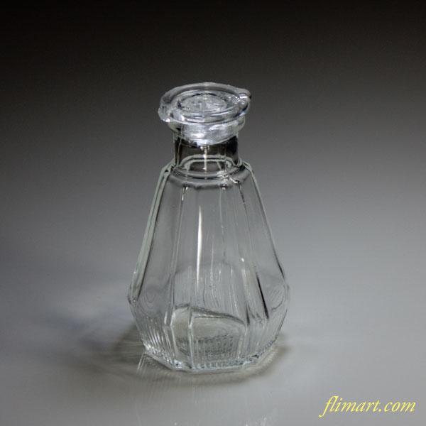 昭和レトロガラス醤油瓶小