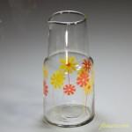 昭和レトロ花柄オレンジ黃水差し