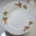 昭和レトロ花柄カレー皿R4423