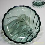 昭和レトロ緑ガラス小皿5枚セット