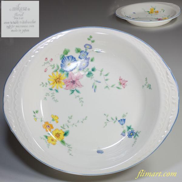 ミカサフローラルオーバルシチュー皿