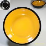 昭和レトロストーンウェア18cmボウルオレンジ