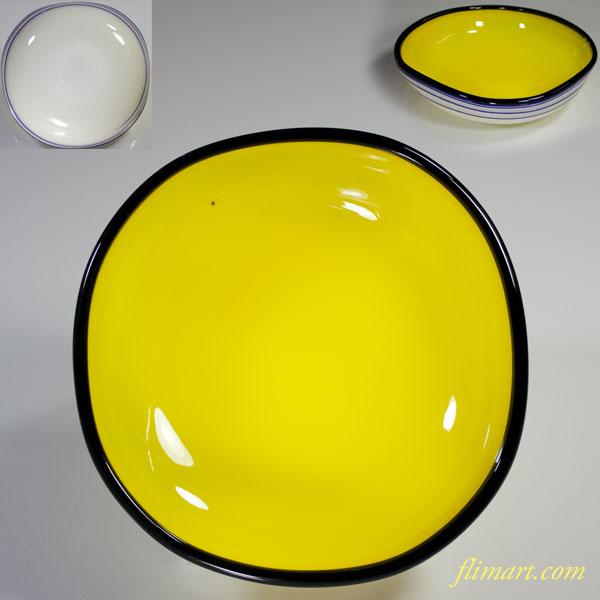 昭和レトロガラスボウル黃