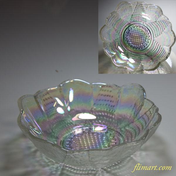 昭和レトロラスターガラスボウル小鉢
