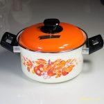 サンコーウェアホーロー両手鍋果物柄オレンジ20cmR4763